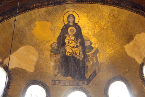 Hagia Sophia's The Virgin and Child mosaic.