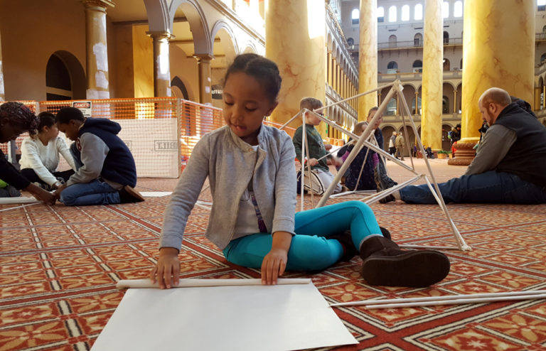 Building Paper Forts at the National Building Museum