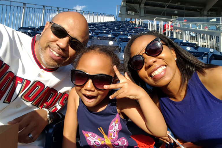 Family Trip To A Nationals Baseball Game